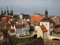 Blick auf die Welterbestadt Bamberg