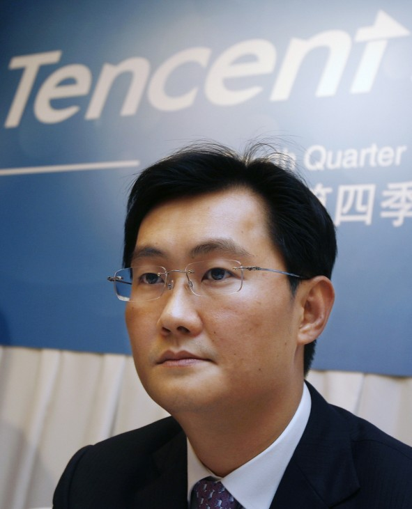 Ma, Chairman & CEO of Tencent attends a news conference in Hong Kong