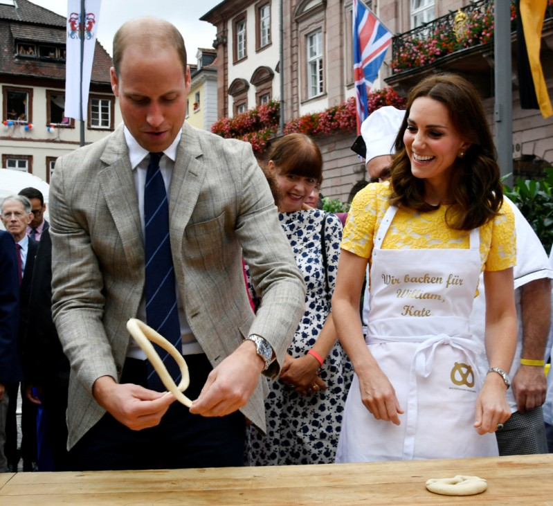 Britain's Prince William and his wife Catherine, Duchess of Cambridge visit Heidelberg