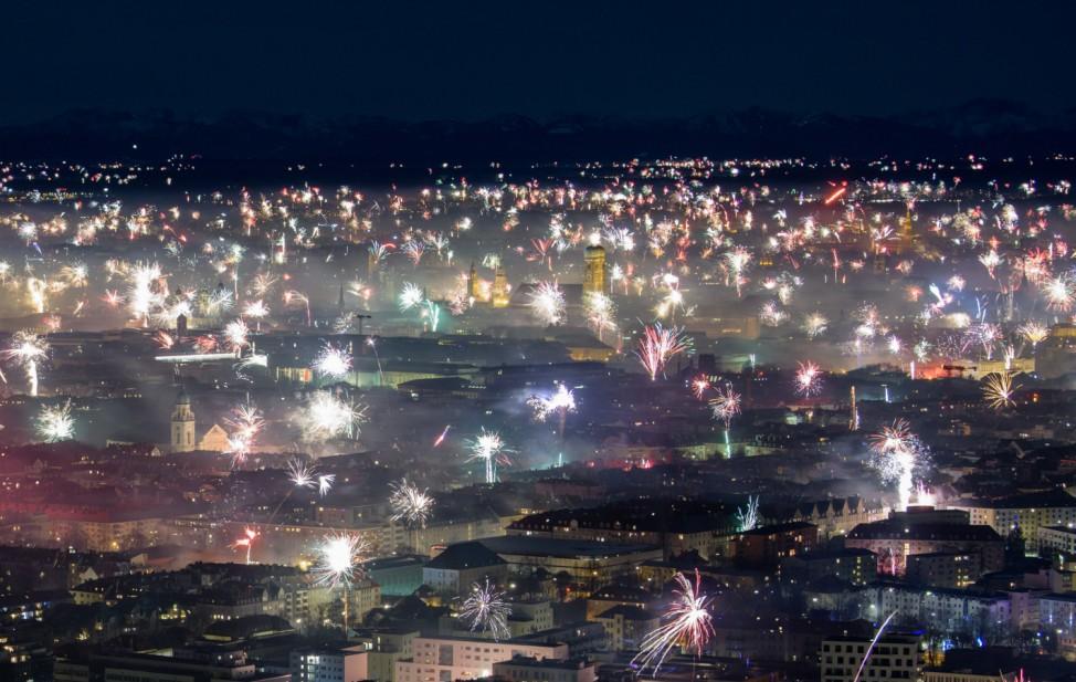 Silvester - Feuerwerk in München