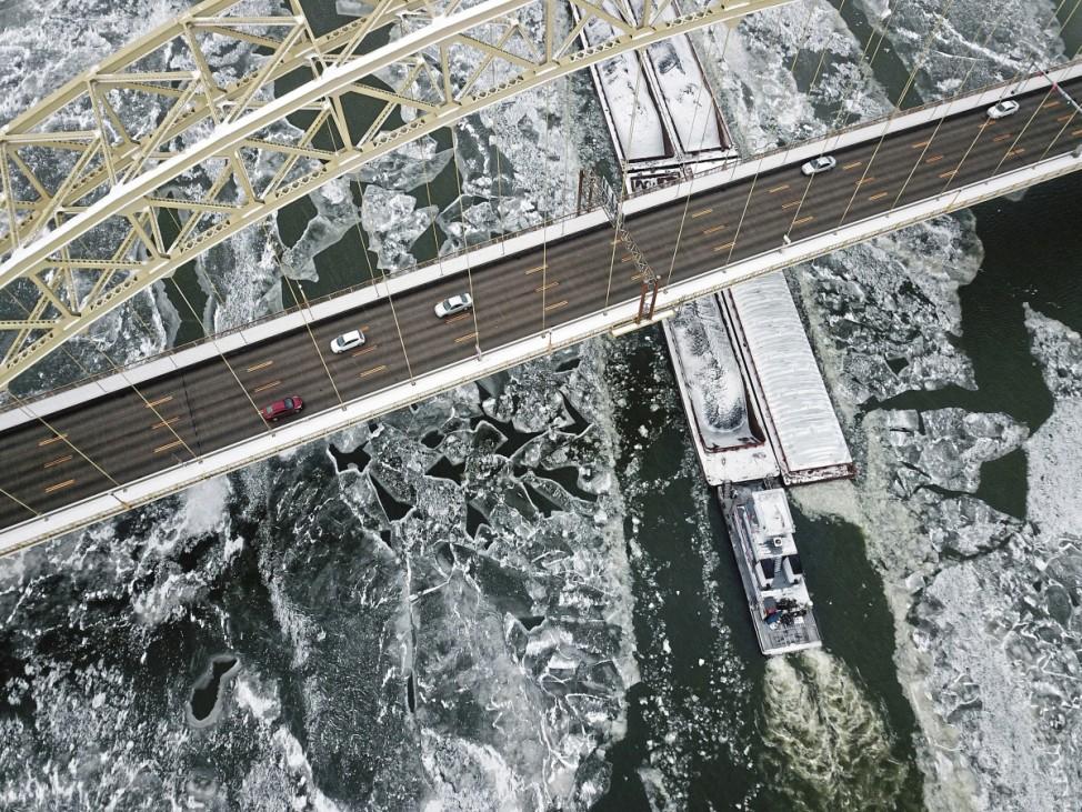 Eis auf dem Ohio River