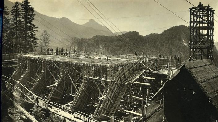 Wasserkraftwerk Walchensee; Bau Walchenseekraftwerk