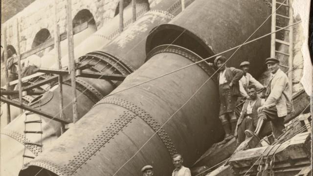 Historische Aufnahmen Walchenseekraftwerk; Bau Walchenseekraftwerk