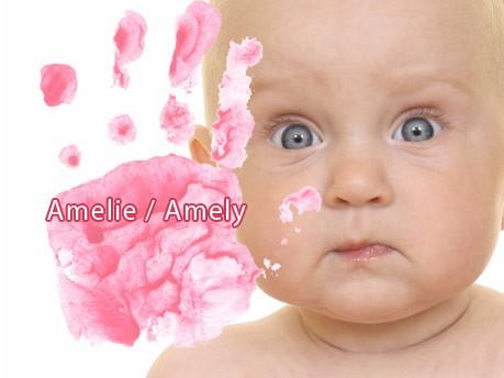 Die häufigsten Mädchennamen, Amelie/Amely