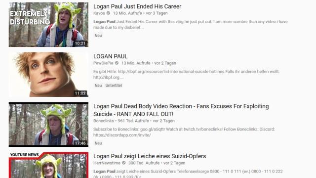 Logan Paul Skandal