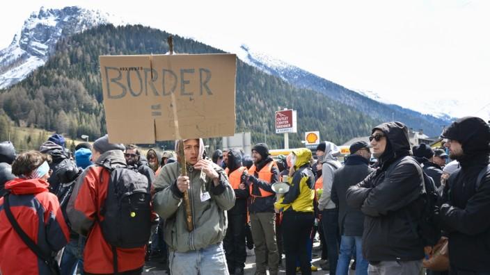 Historiker Philipp Ther: Archvbild einer Demonstration gegen die geplanten Grenzkontrollen in Österreich 2016.