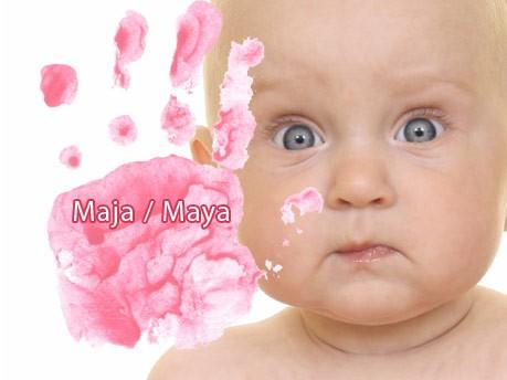 Die häufigsten Mädchennamen, Maja/Maya