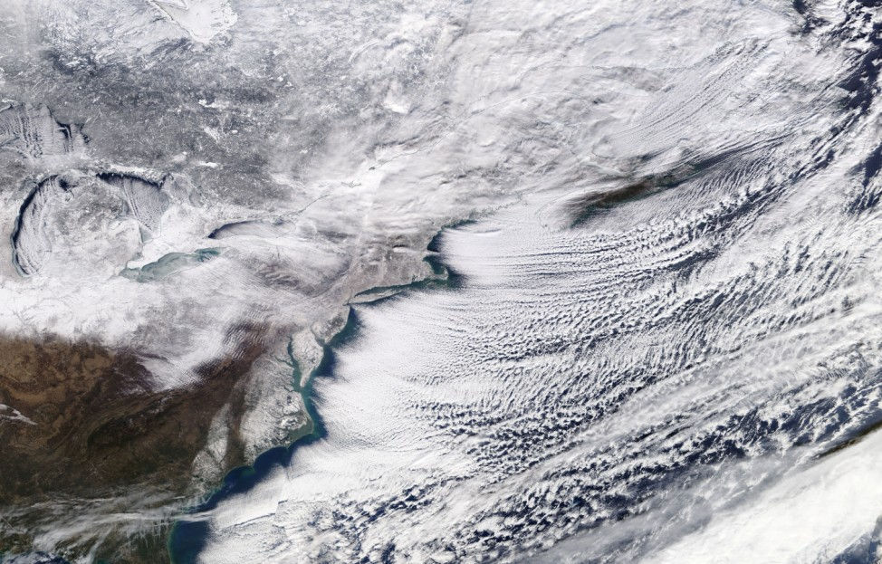 A winter storm sweeping across Ontario, eastern Canada and the northeastern United States