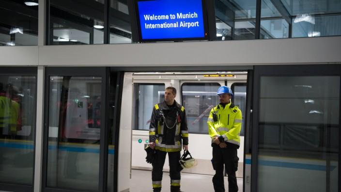 Selbstfahrende U-Bahn am Münchner Flughafen