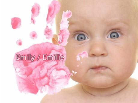 Die häufigsten Mädchennamen, Emily/Emilie