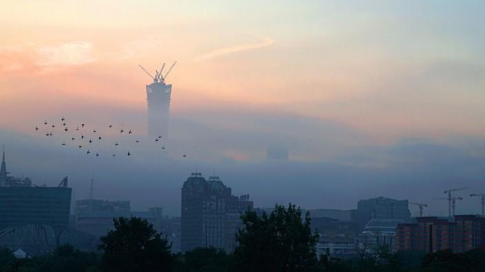 Peking Smog Winter Himmel