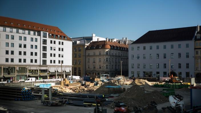 München: Baustelle Marienhof