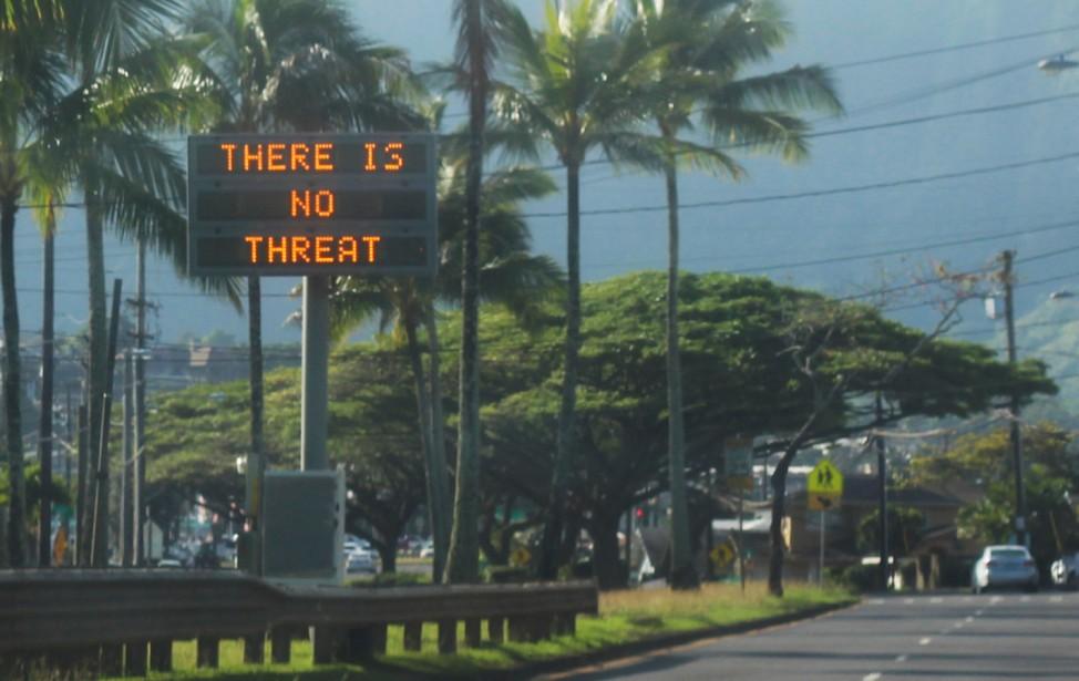 Falscher Raketenalarm in Hawaii