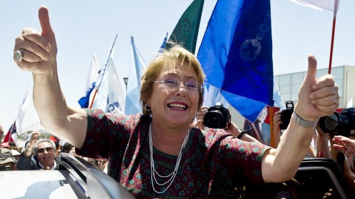 Ranking: Die Sozialistin Michelle Bachelet während des Wahlkampfs im Jahr 2013
