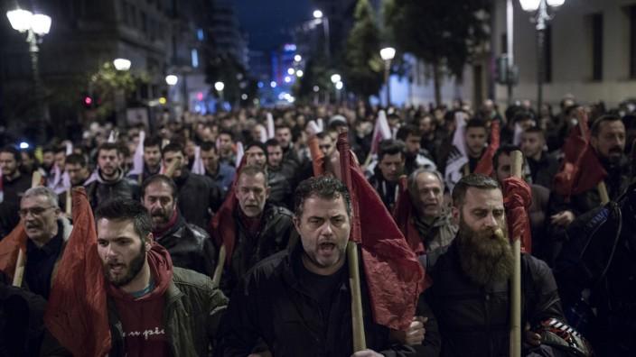 Demonstrationen in Athen