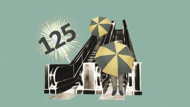 Rolltreppen-Jubiläum: Jubiläum: Die Rolltreppe wird 125 Jahre alt.