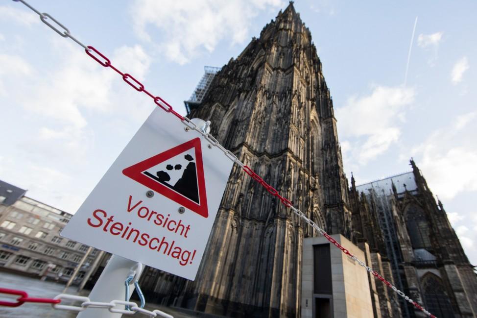 Sturmtief 'Friederike' - Kölner Dom