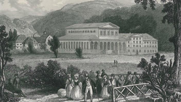 SZ-Serie: Schauplätze, Folge 33: Den Kursaal ließ Ludwig I. 1827 einweihen, die Flaneure geben einen Eindruck von der Sommerfrische damals.