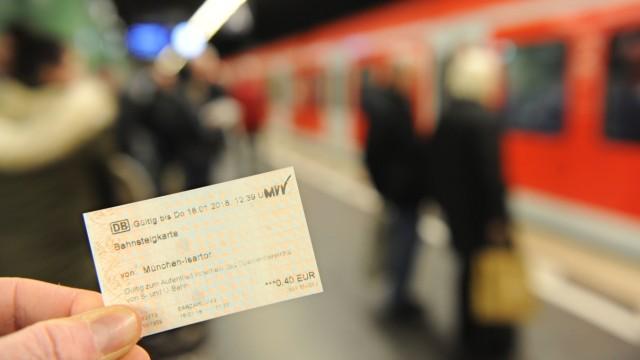 Bahnsteigkarte Ticket MVV