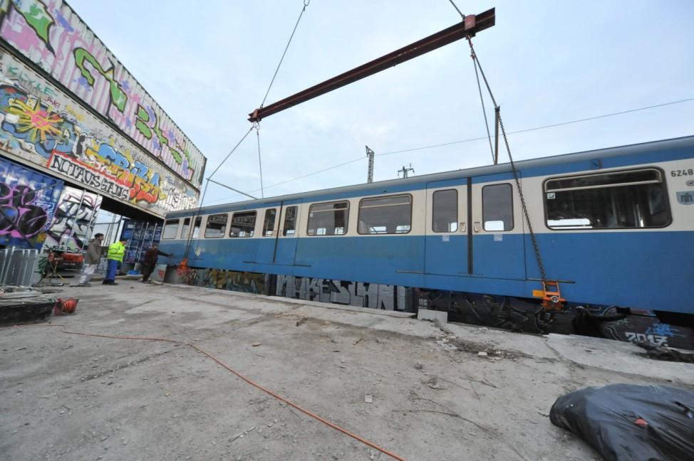 """""""Bahnwärter Thiel"""" auf dem Viehhof-Gelände in München, 2018"""