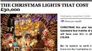 Klick-Blick: Skurrile News aus dem Netz: Ein wahrer Weihnachtsfan: Alex Goodwind lässt sein Haus von 120.000 Glühbirnen erleuchten.