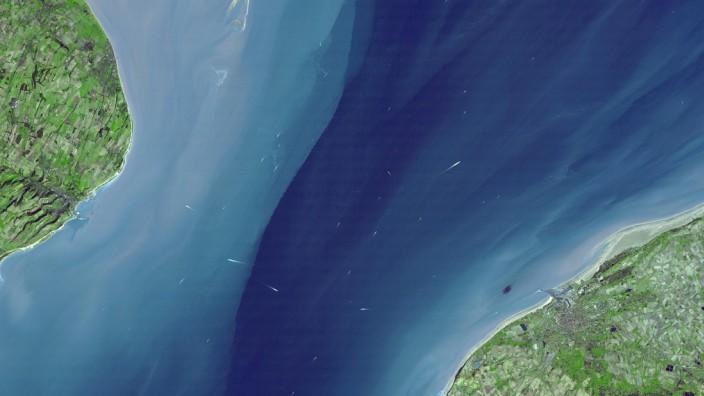 Straße von Dover aus dem Weltall