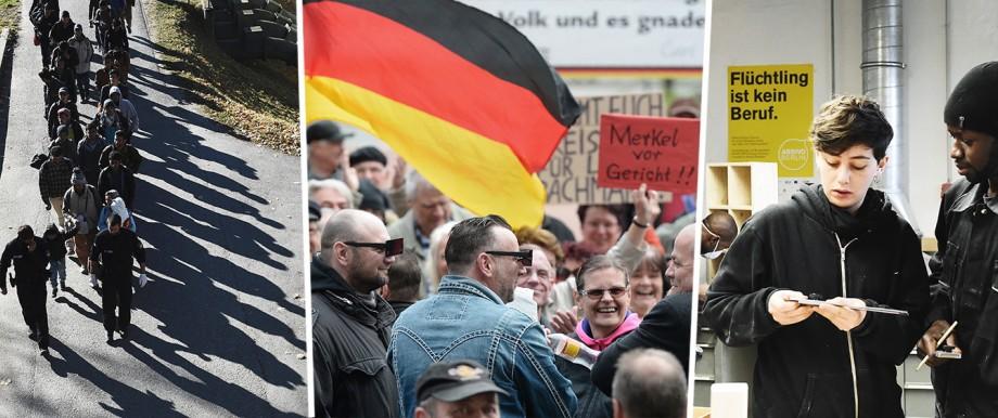 Integration: Zwischen der Ankunft der Flüchtlinge und ihrer Integration schloß sich großer Protest.
