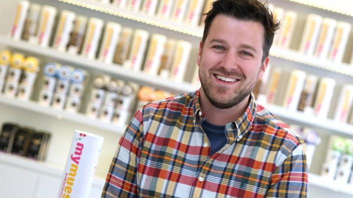 """Max Wittrock von Internethändler """"myMüsli"""" in München, 2012"""