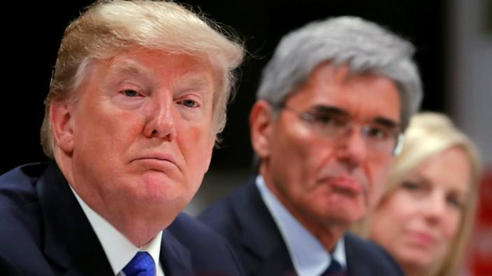 Donald Trump und Siemens-Chef Kaeser beim Weltwirtschaftsforum in Davos.