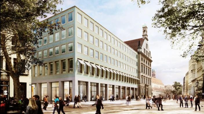 Alte Akademie: Signa will die Arkaden am Hettlage-Bau umgestalten.