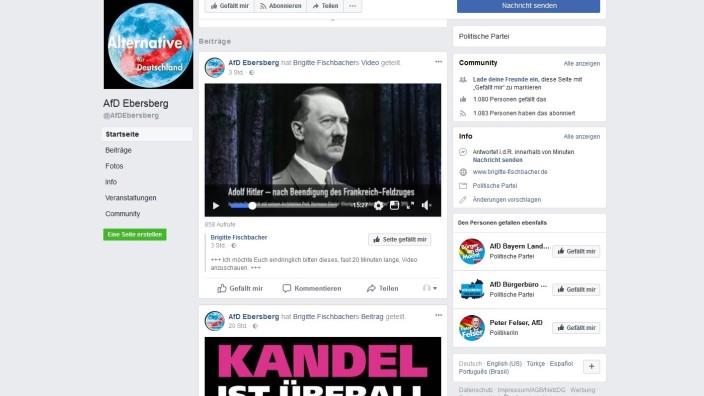 Der AfD-Kreisverband veröffentlichte auf seiner Facebook-Seite ein fragwürdiges Hilter-Video.
