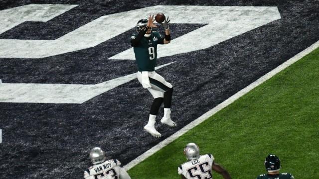 NFL: Nick Foles fängt im Super Bowl einen Touchdown-Pass