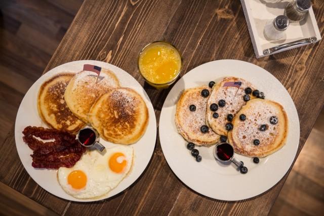 Im neuen Mr. Pancake gibt es unter anderem Mr. Bacon oder Mr. Blueberry.