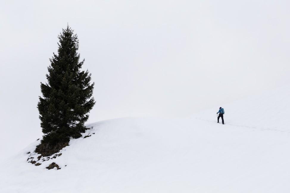 Schneeschuh Wanderung bei Bayrischzell auf den Seeberg