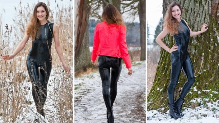 teen girls in latex modelle