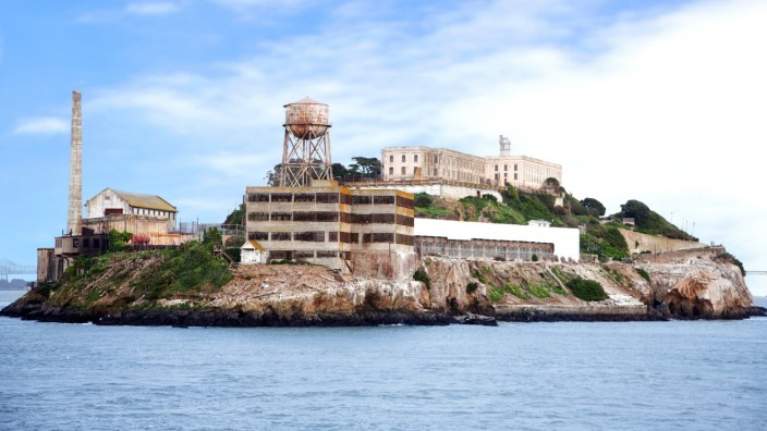 Alcatraz island famous prison in San Francisco BLWX003954 Copyright xblickwinkel McPhotox Andreszx