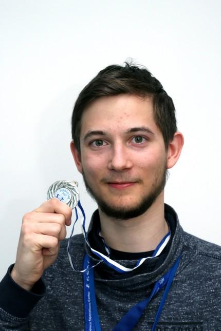 Lukas Rother vom Team Minverva des OvT-Gymnasiums