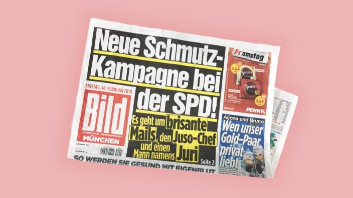 """Die Satirezeitschrift """"Titanic"""" behauptet, die Bild-Zeitung mit einer Geschichte über Juso-Chef Kevin Kühnert reingelegt zu haben."""