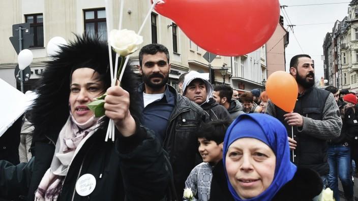 Demonstration in Cottbus für Weltoffenheit