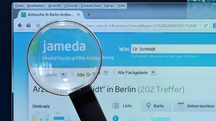 Bildschirm Internet Lupe Arztempfehlung jameda de Bildschirm Internet Lupe Arztempfehlung jameda