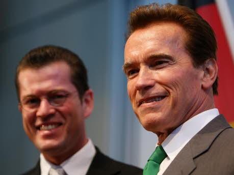 Karl-Theodor zu Guttenberg, Arnold Schwarzenegger