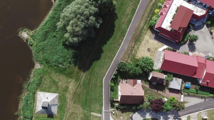 20 Jahre Oderhochwasser - Pegelhaus in Ratzdorf