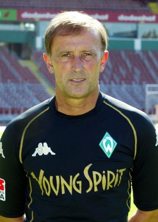 Fussball: 1. Bundesliga 03/04, SV Werder Bremen; Dieter Burdenski