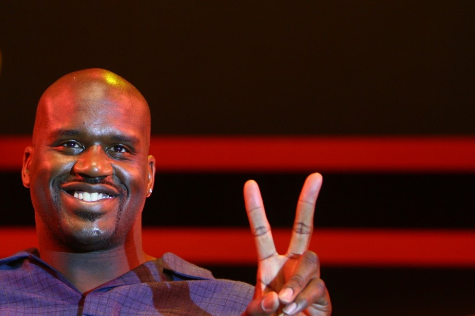 NBA Star Shaquille O'Neal Promotes Chinese Sports Brand In Beijing; Shaquille O´Neal