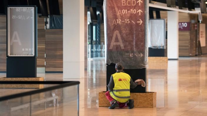 Presserundgang am Flughafen Berlin Brandenburg BER