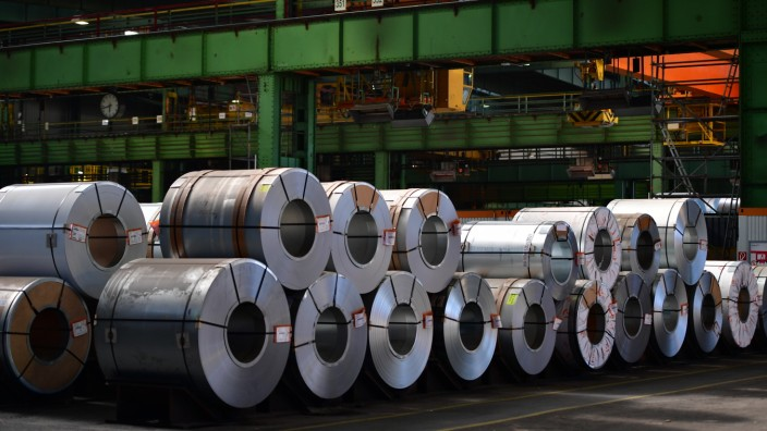 FILE Donald Trump Plans To Impose Tariffs on U.S. Imports of Steel and Aluminum Steel Production At Salzgitter AG