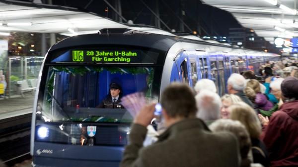 Jubiläumsfahrt der U6 von Garching-Hochbrück bis Großhadern, 2015