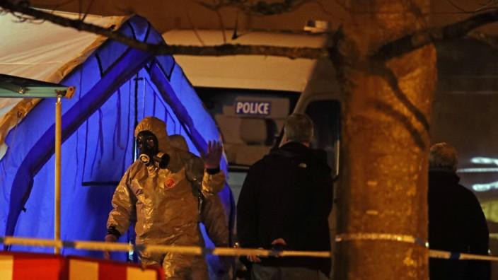 Ermittlungen im Fall Skripal: Die britische Anti-Terror-Polizei ermittelt im Fall des vergifteten Ex-Spions.