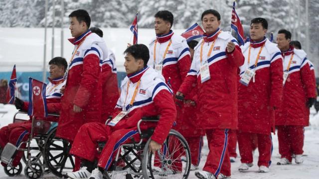 Start der Paralympics: Zwei Behindertensportler aus Nordkorea sind samt Delegation erstmals bei den Paralympics dabei.