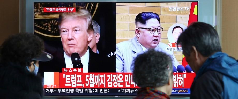 Kim Jong Un. Donald Trump
